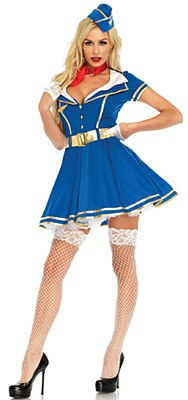 Sky High Hottie Flight Attendant Adult Costume