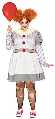 Creepy Clown Adult Plus Costume