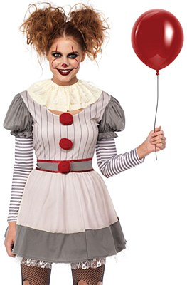 Creepy Clown Adult Costume