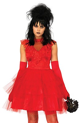 Beetle Bride Lydia Red Wedding Dress Adult Costume