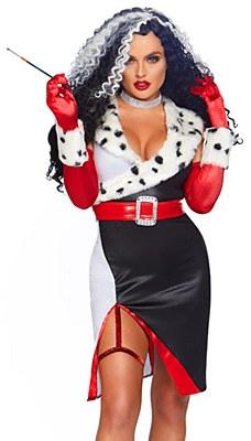 Devilish Diva Cruella De Vil Adult Costume
