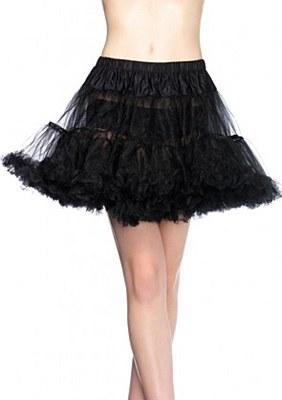 Layered Stiff Tulle Black Petticoat