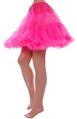 Layered Stiff Tulle Neon Pink Petticoat