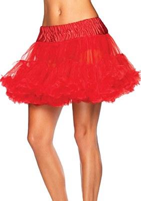 Layered Stiff Tulle Red Petticoat