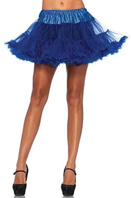 Layered Stiff Tulle Royal Blue Petticoat
