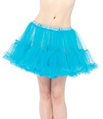 Layered Stiff Tulle Turquoise Petticoat