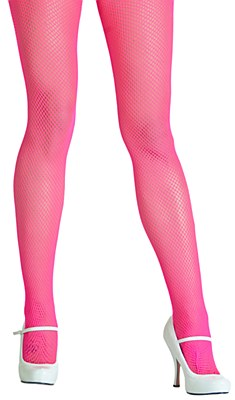 Nylon Neon Pink Fishnet Tights