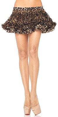 Seamless Lycra Nude Fishnet Tights