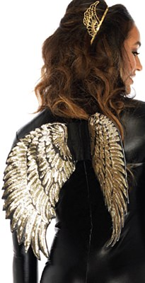 Goddess Gold Sequin Wings