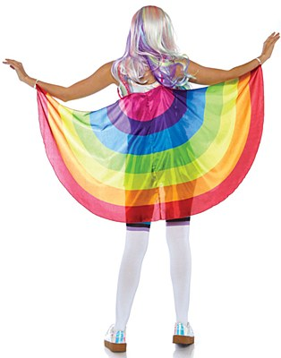 Rainbow Fabric Wings Cape