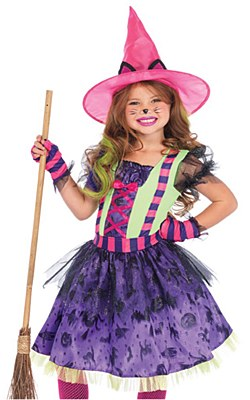 Black Cat Witch Child Costume