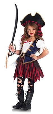 Caribbean Pirate Girl Child Costume