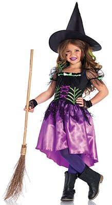 Spiderweb Witch Child Costume