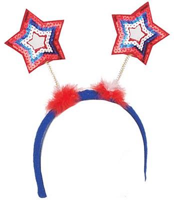 Patriotic Light Up Star Bopper Headband