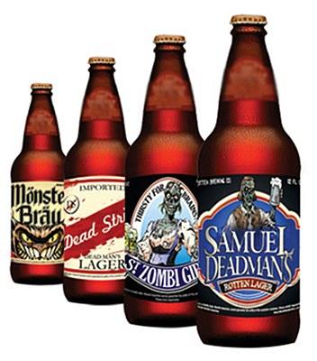 Halloween Beer Bottle Labels