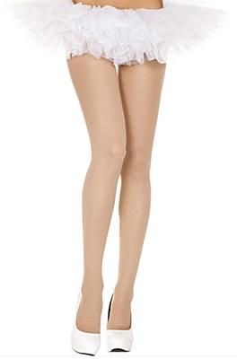 Opaque Nylon Tights - Nude