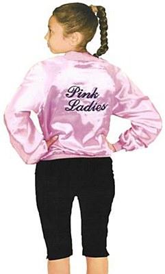 Pink Ladies Child Satin Jacket