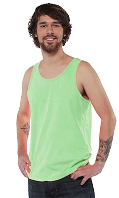 80's Unisex Neon Green Tank Top