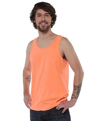 80's Unisex Neon Orange Plus Tank Top