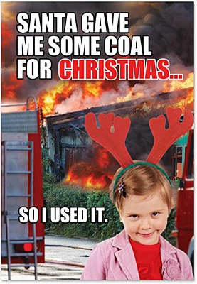 Christmas - Coal Greeting Card