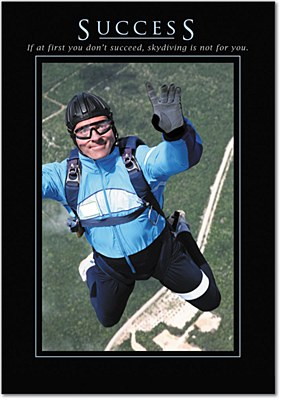 Congrats - Sky Diving Success Greeting Card