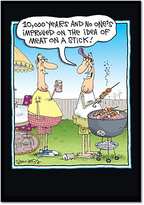 Father's Day - Meat On A Stick Greeting Card