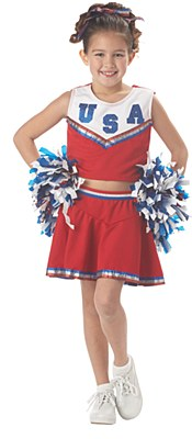 Patriotic Cheerleader Child Costume
