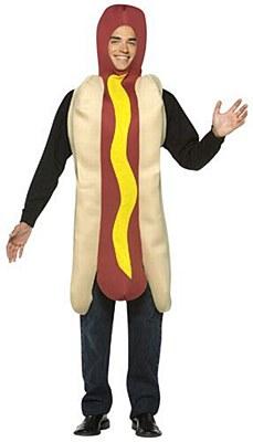 Hot Dog In A Bun Adult Costume
