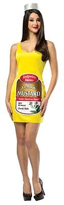 Mustard Zestyville Dress Adult Costume