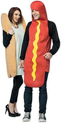 Hot Dog And Bun Adult Costumes