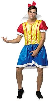 My Hairy Princess Bro White Men's Snow White Adult Costume