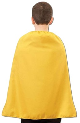 Super Hero Yellow Child Cape