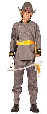 Confederate Officer Teen Costume
