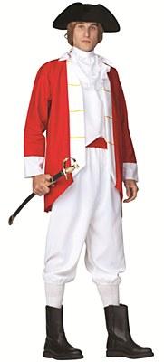 Colonial Captain British Red Coat Adult Costume