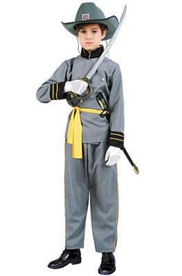 Confederate Officer Child Costume