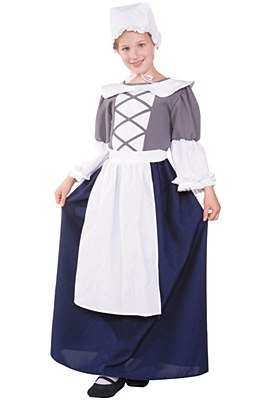 Colonial Girl Peasant Child Costume