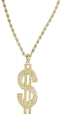 Dollar Sign Gold Medallion Necklace
