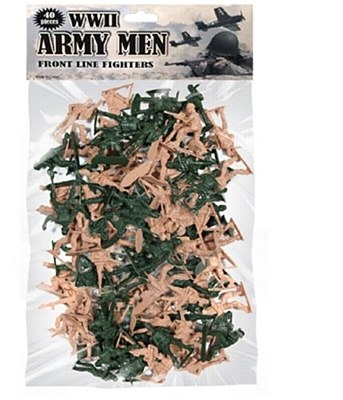 WWII Army Men Toy Play Set