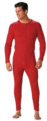 Long Johns Union Cotton Suit Adult Costume