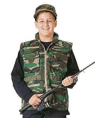 Ranger Woodland Camo Child Vest