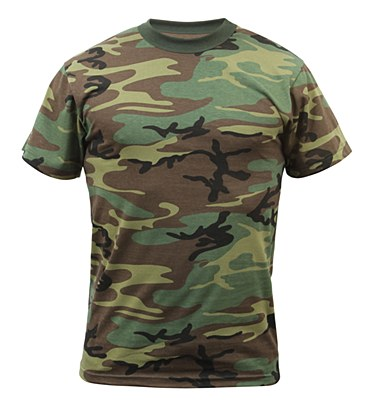 Army Woodland Camo Adult T-Shirt