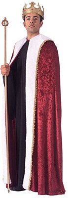 Velvet And Fur Trim King Cape