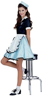 Car Hop Girl Adult Costume