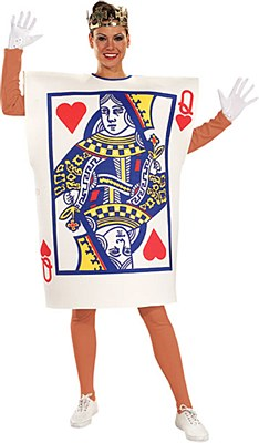 Playing Card Queen Of Hearts Adult Costume