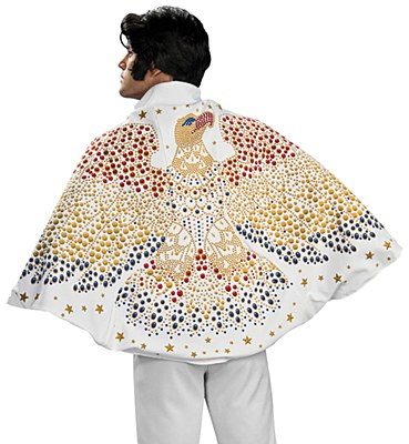 Elvis Sequin Lined Glitter Adult Cape