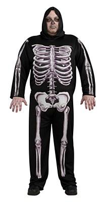 Skeleton Adult Plus Costume