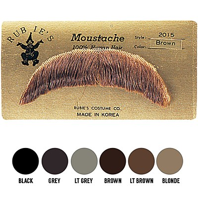 Human Hair Moustache Basic Character