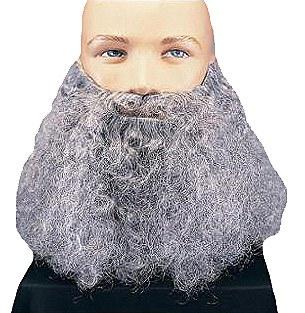 Grey Full Curly Beard
