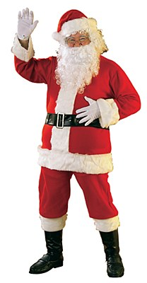 Santa Suit Flannel Adult Costume