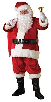 Santa Suit Regency Plush Adult Costume